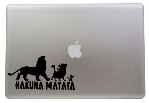 This is a personalized made to order Hakuna Matata Decal. This decal will be made in black, unless you ask in the notes section for a different
