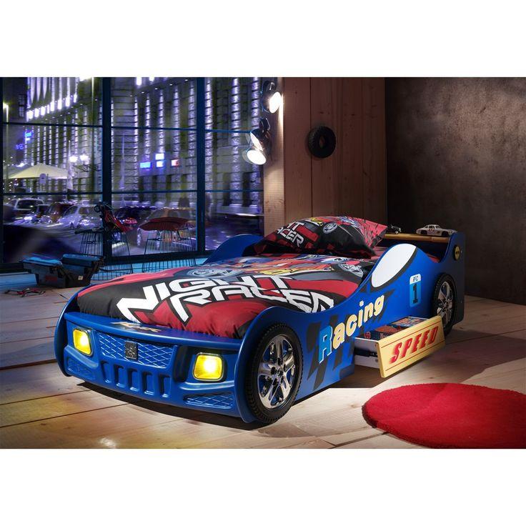 Autobed Schumi blauw / Lit voiture Schumi bleu