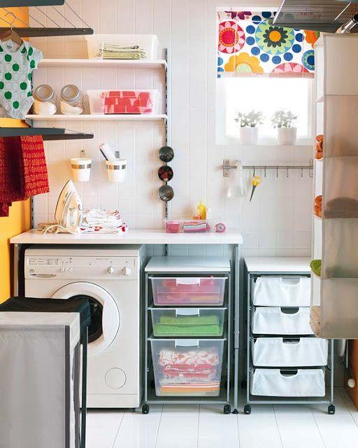 Lavaderos: a la hora de ordenar: cajoneras, estantes, percheros, baldas y frascos!