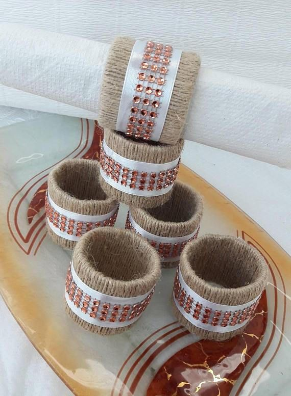 Wedding centerpiece silver Napkin Rings, Wedding Event, Bridal Shower jute Napkin Rings, Home & Living, Kitchen & Dining, Linens, bulk napkin, Wedding napkin rings, Rustic Table setting Napkin Rings, napkin rings wedding, Napkin rings, wedding centerpiece setting, Eco Friendly, Twine