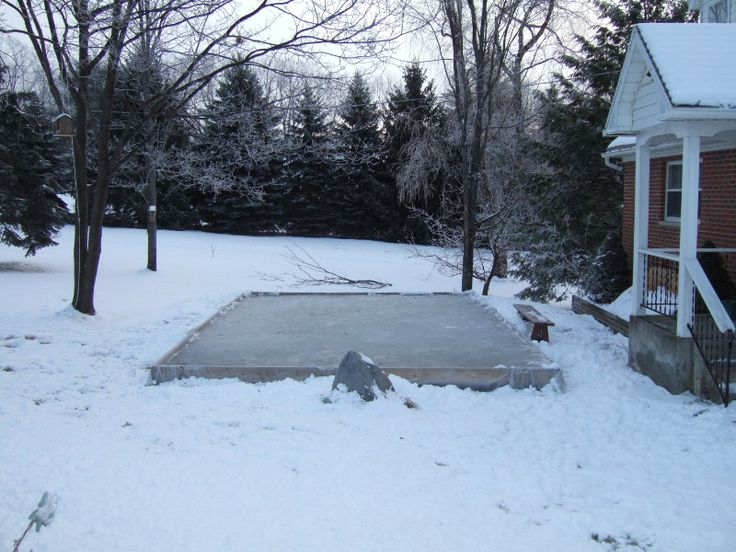 DIY Backyard Ice Rink   Instructions For A Great Winter Project And A New  Family Tradition