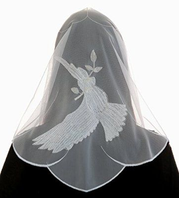 Anna Chapel Veil Catholic Mantilla - Dove Silver