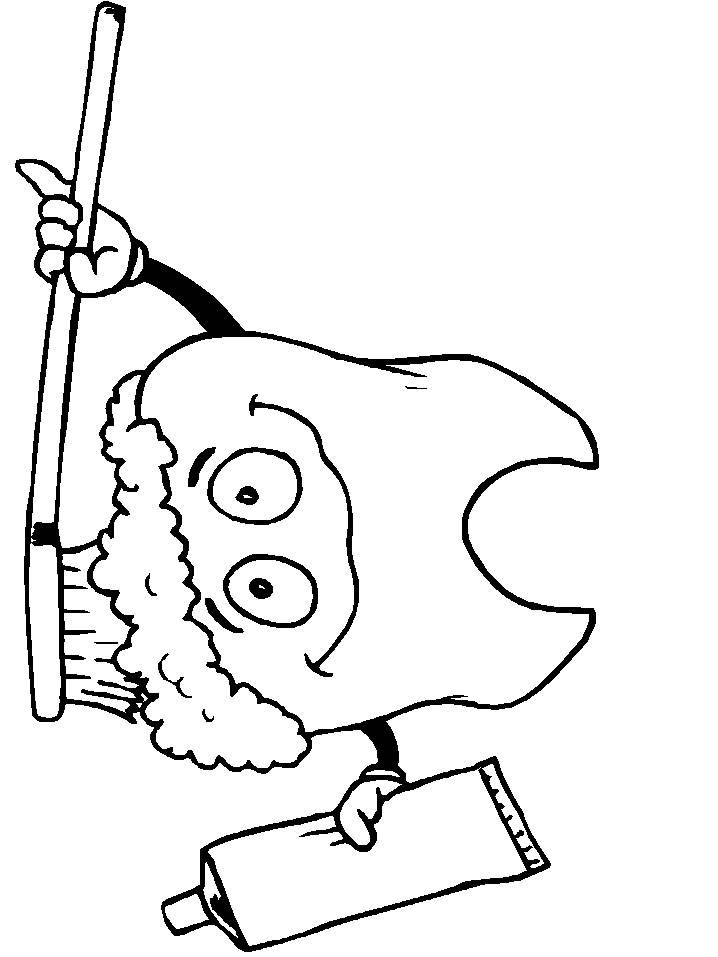 Coloring pages dental hygiene 5