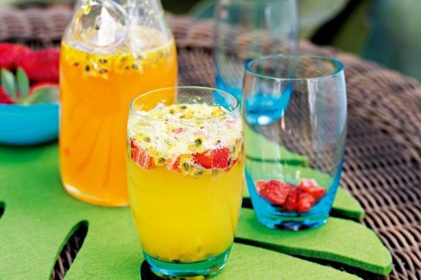 Even the kids can have this refreshing summer punch.