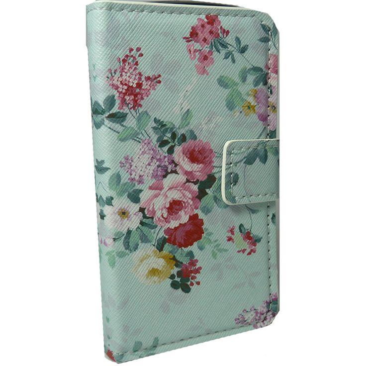 Θήκη πορτοφόλι για Galaxy Duos Λουλούδια Μπλε http://mikromagazo.gr/_p809.html