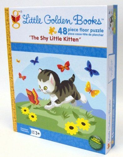 Little Golden Books The Shy Little Kitten 48 pc Floor Puzzle Karmin International,http://www.amazon.com/dp/B00BFIEZW0/ref=cm_sw_r_pi_dp_Ssw5sb10S9TN6Z05