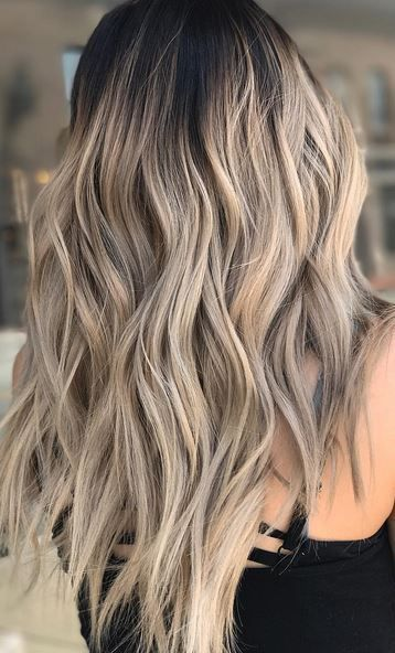 rooty blonde highlights