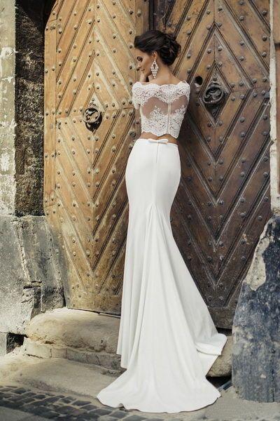 свадебное платье с кроп топом - Поиск в Google