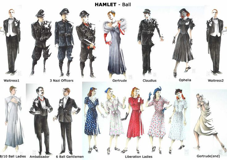 Character Analysis For Costume Design : Hamlet costume sketches pinterest costumes