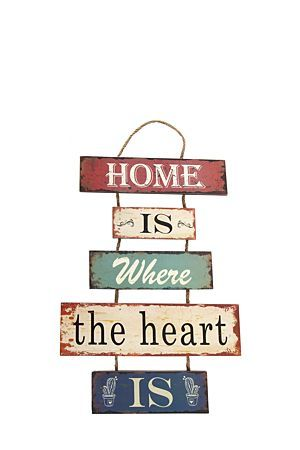 """This script hanging wall plaque makes a great focal point in any room in your home. It gives that room a personal touch.<div class=""""pdpDescContent""""><BR /><b class=""""pdpDesc"""">Dimensions:</b><BR />L30xW30xH51 cm</div>"""