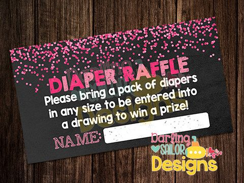 Baby Girl Sprinkle Diaper Raffle, Baby Sprinkle Shower, Print on your own, Digital File, 6 tickets per 8.5x11 print (digital file only!) by DarlingSailorDesigns on Etsy https://www.etsy.com/listing/222868268/baby-girl-sprinkle-diaper-raffle-baby