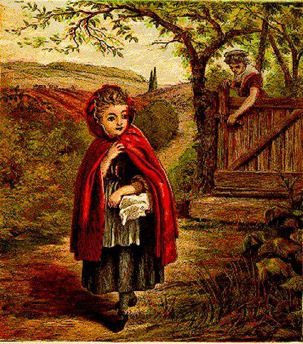 Красная Шапочка -старинные иллюстрации и картины.