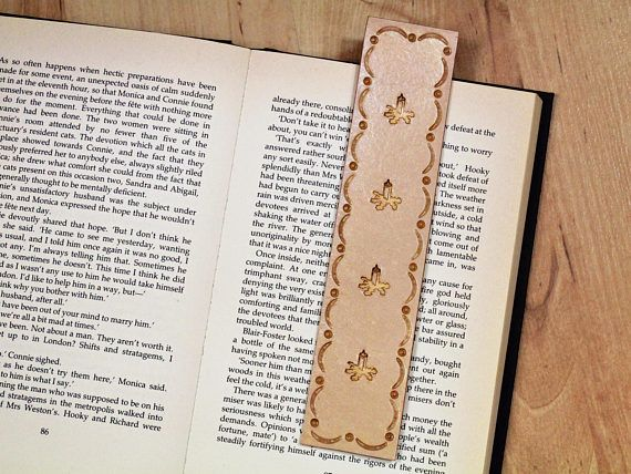 Handmade Bookmark, Leather Bookmark, Candles Bookmark, Bereavement Gift. Repin To Remember.
