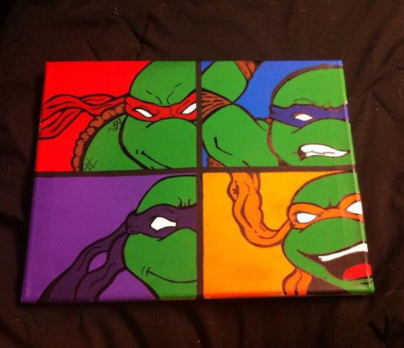 Hey! I found this awesome listing! Teenage Muntant Ninja Turtles by Arkansaslove on Etsy