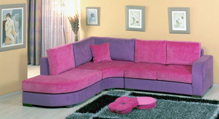 Γωνιακός καναπές Ροζ http://sofa.gr/kanapes-gonia-roz