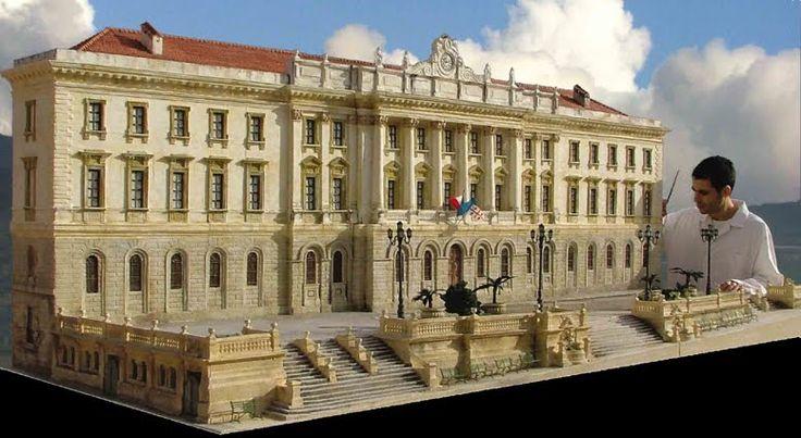 Plastic model of a building - Riproduzione Palazzo Sciuti