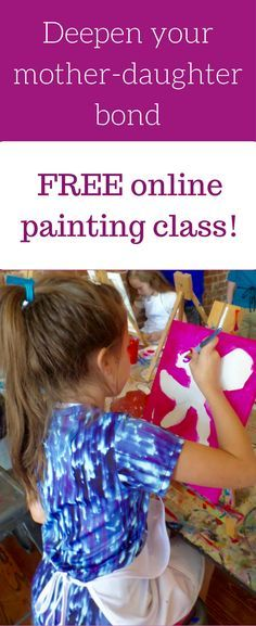Sign up for my FREE online painting class called Let's Paint Together - Mom and Me! You will get  high quality, step by step video instructions, an easy to trace printable design template and a small art supplies shopping list. I  even have a video of my trip to the craft store to help! The design templates feature April the giraffe and her new born calf! Follow along with me and lets have some fun!