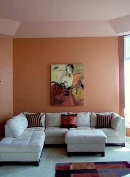 Paint Colors Used: Chrysanthemum 6347 (walls) And Smoky Salmon 6331  (ceiling) By Sherwin Williams