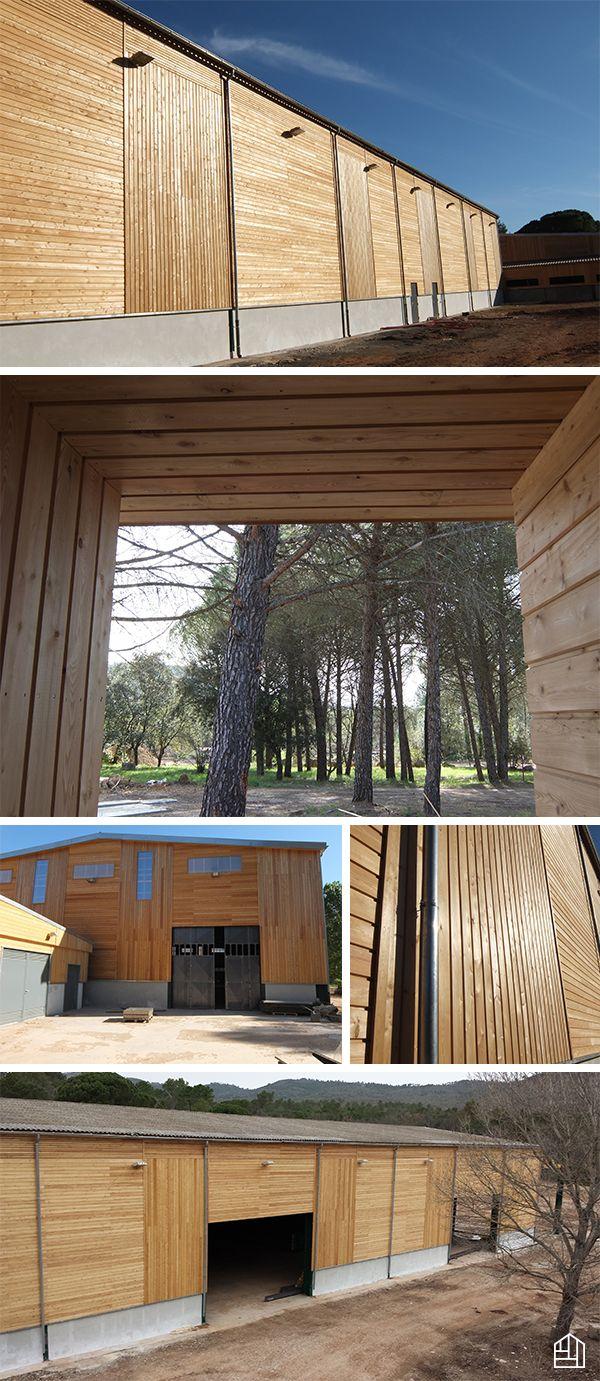 Renovation Dun Ensemble Dentrepots Avec M De Bardage Bois En Meleze De Siberie Naturel Pose Verticale Horizontale