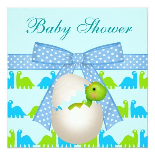 360 best Dinosaur Baby Shower Invitations images on Pinterest Baby