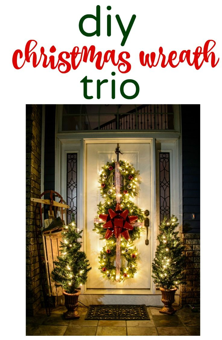 Check out the tutorial for this Christmas Wreath Trio!