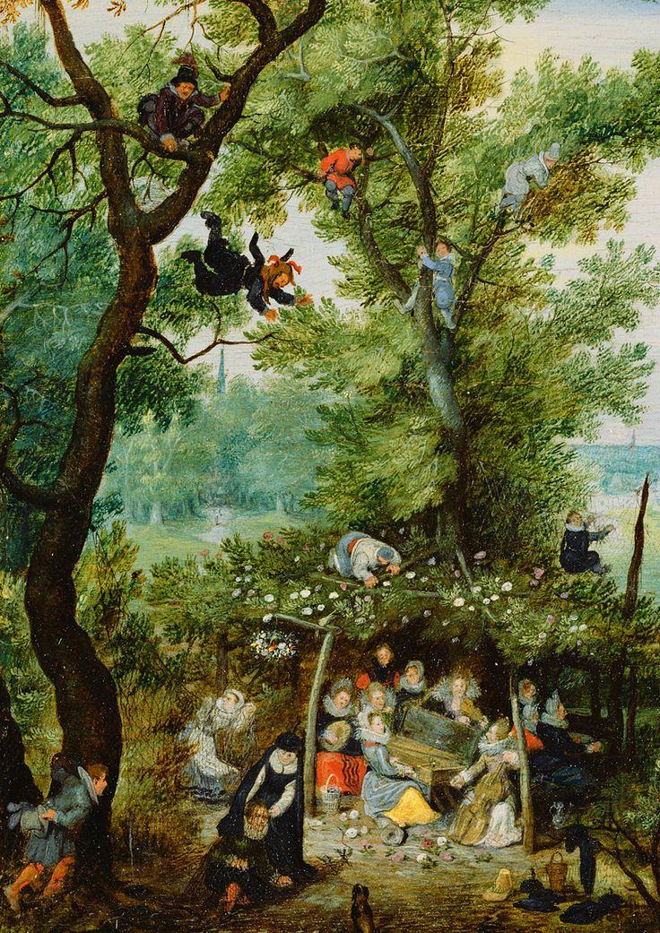 Adriaen van de Venne. Detail from A Merry Company in an Arbor, 1615.