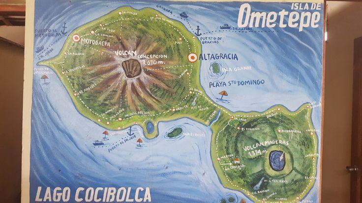Exploring Ometepe Nicaragua map of the Island || Ometepe, Nicaragua – Traveler Dream Destination - www.travel.flatworldonline.com