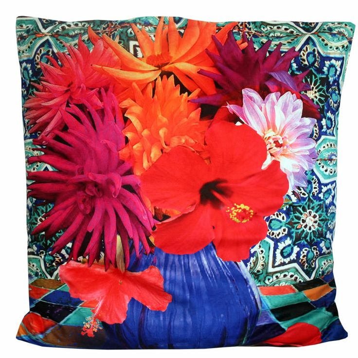 Anna Chandler Velvet Flower Cushion