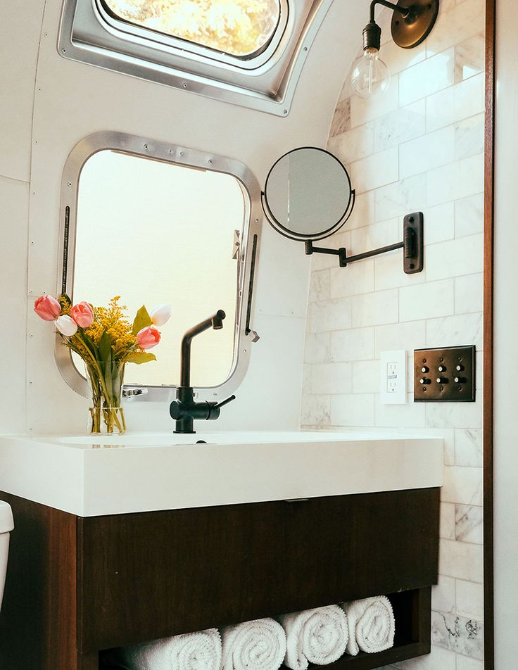 Best Camper Bathroom Ideas On Pinterest Camper Trailer - Rv bathroom sink replacement for bathroom decor ideas