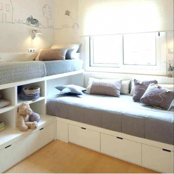 Built In Beds For Small Bedroom Excellent Space Saving Design