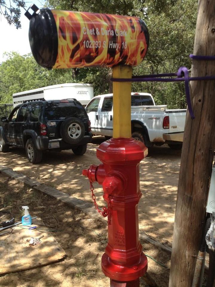 Firefighter Mailbox Mailbox Ideas Pinterest Firefighters
