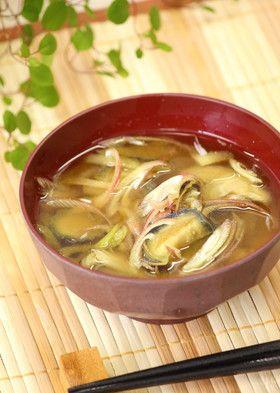 茄子と茗荷の味噌汁』夏の定番味噌汁! by あぽももこ [クックパッド ...