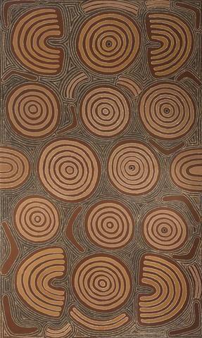 Aboriginal Art Painting 92I038, Cowboy Louie Pwerle, 1992
