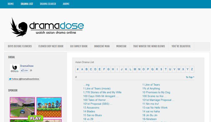 http://www.dramadose.net/drama-list/ - Asian Drama Check out Korean Drama online at DramaDose https://www.facebook.com/bestfiver/posts/1422789624600675
