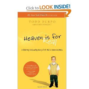 """""""Heaven is for Real"""" seems to be a book you either love or hate.  I fall into the latter category.  The story is heartwarming at times, but I just can't get over the way the parents handled their son's medical situation.  There were others at my book club who really enjoyed the book, though.  And it certainly led to a lively discussion.  It is a quick read."""