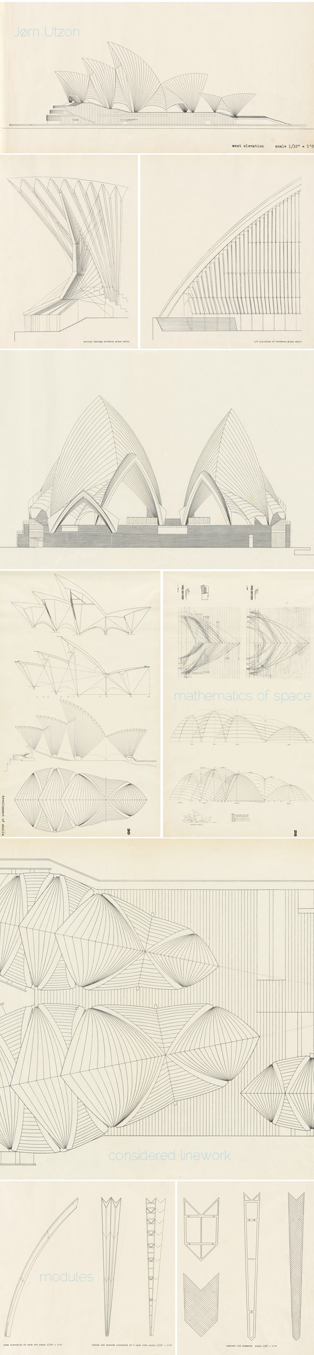 architectural drawings. The Spectacular Drawings For Sydney Opera House, Jørn Utzon (project) Architectural