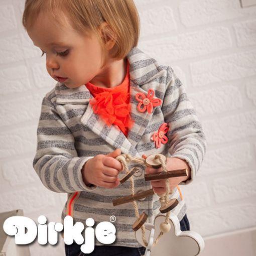 Als een echte jonge dame op pad gaan? Bekijk dan eens deze outfit uit de Dirkje wintercollectie 2016/2017 #dirkje #babykleding #wintercollectie #oranje #dirkjebabywear #meisjes #grijs #strepen