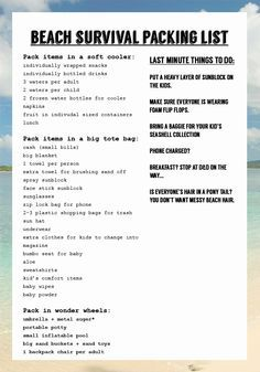 23 life changing tips for going to the beach with kids. How to manage the sand, the ocean, and actually enjoy yourself. Last minute packing and to do list for you to print at bottom of the post. #kids #parenting