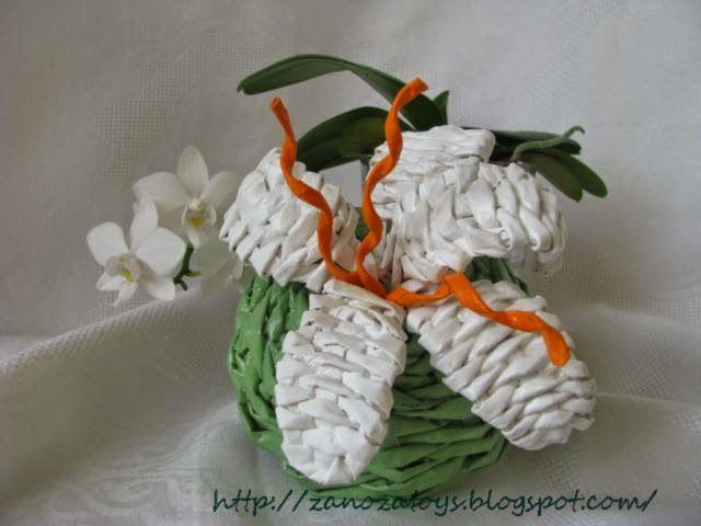 wicker orchid DIY (Делаем цветы из бумаги. Орхидея плетеная)