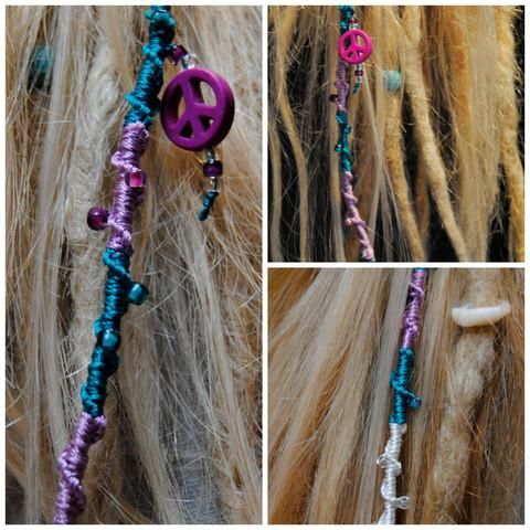 How to make a dreadlock wrap / hair wrap