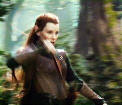 lotr tauriel gif | But without doubt the star of the show is Cumberbatch and his voice ...