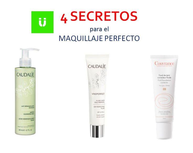 4 SECRETOS  DEL MAQUILLAJE PERFECTO  * 1. Limpiar la piel antes y después. Ideal la Leche desmaquillante Caudalie enriquecida con activos calmantes. * 2. Hidratación con color, el truco para las que no os gusta maquillaros.  Prueba el Fluido Piel Perfecta de Caudalie. * 3. Bases de maquillaje enriquecida. Mira Avène, maquillaje  con: vitaminas, antioxidantes, activos hidratantes, filtros solares...   *4. ¿Un último consejo? No apliques demasiado maquillaje y extiéndelo bien con una…