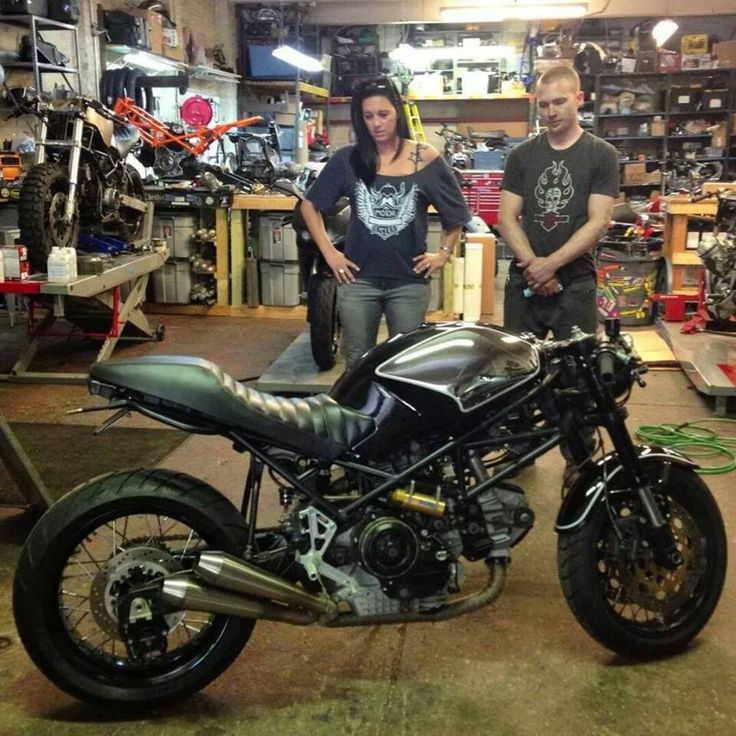 Ducati Monster custom with one-piece seat, black & bare ...