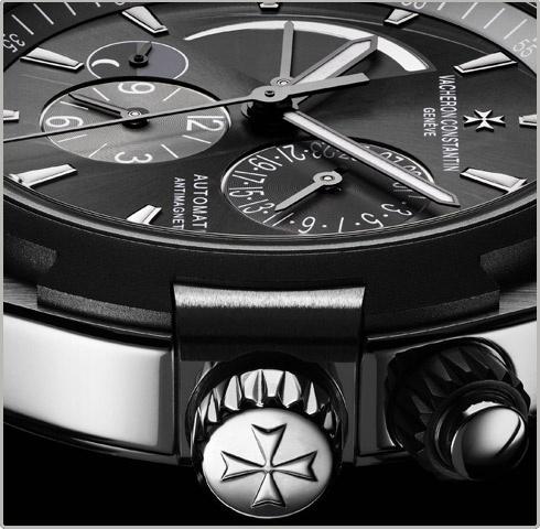 Vacheron Constantin Overseas dual time - round - stainless steel