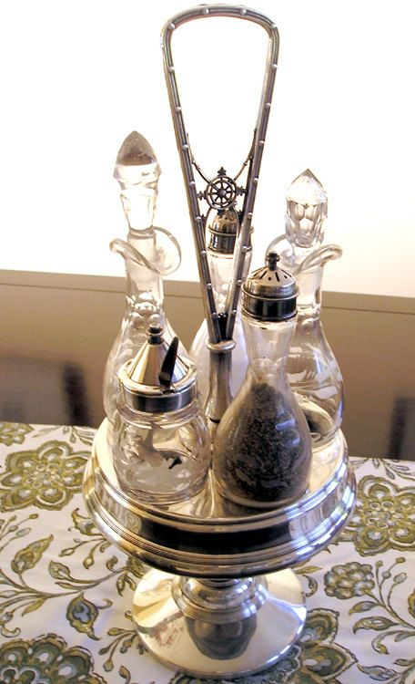 35 best Antique Cruet Set images on Pinterest  Condiment