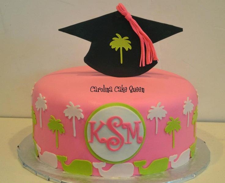 Graduation Cake Ideas For A Girl : cool graduation cake! perfect for a carolina girl. Also ...