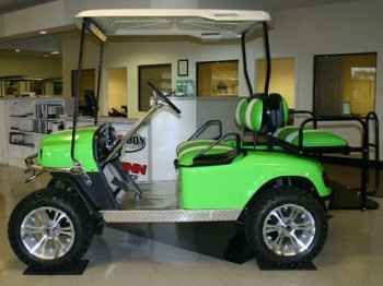 New 2012 Ez-Go Custom Monster Lime Green Electric Lifted Golf Cart ATVs For Sale in Illinois.