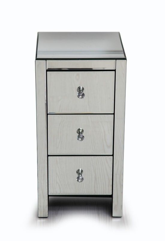 Mirrored Chest Of Drawers Bedroom Furniture Tall Venetian Glass ...