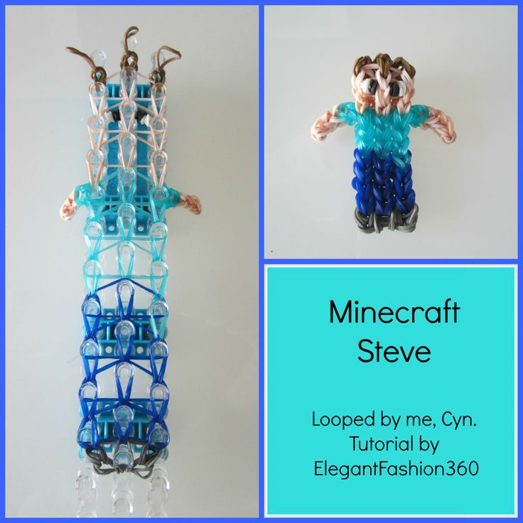 7 best rubber band loom images on pinterest loom bands rubber minecraft steve fandeluxe Gallery