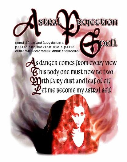 Astral projection spell..... Happy travels ☺